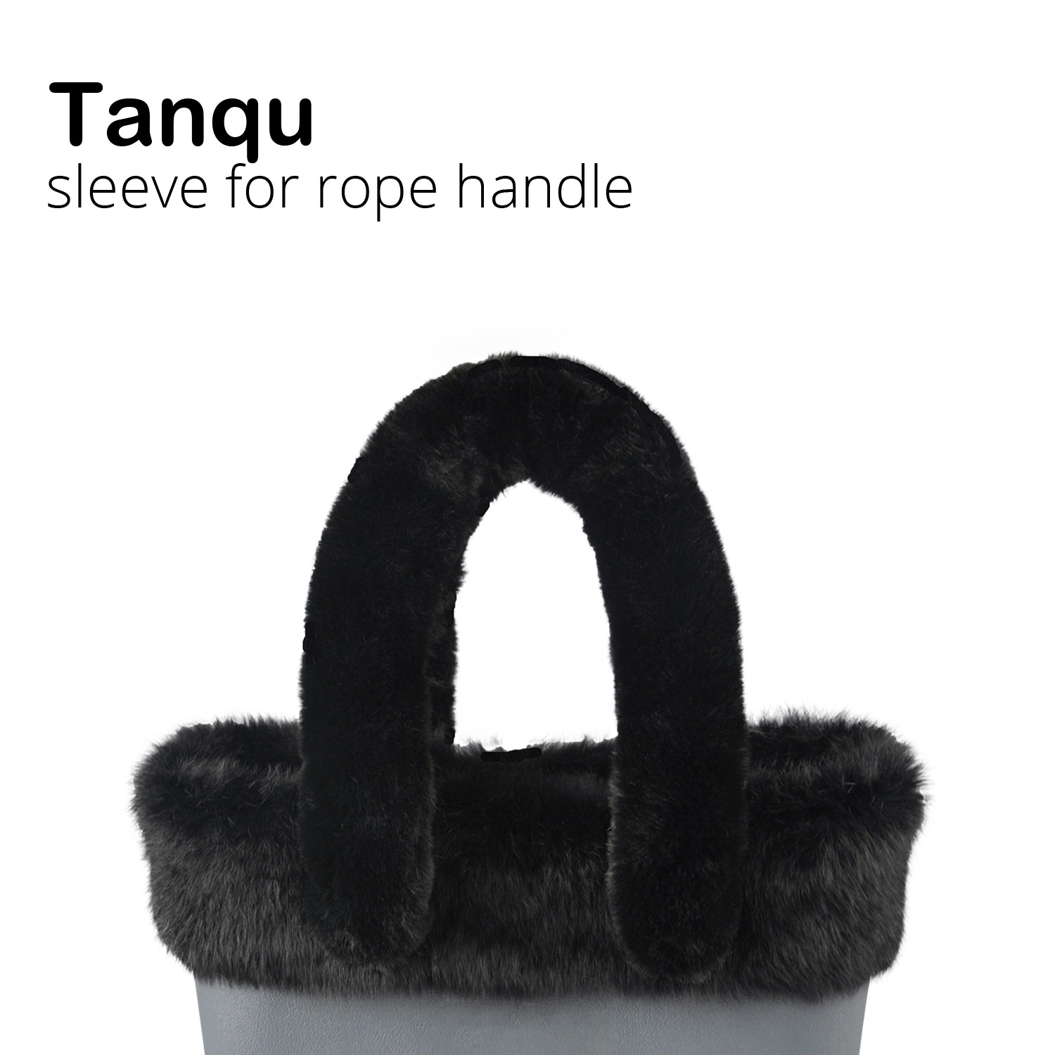 Tanqu 2018 Long Short Soft Warm Faux Fur Sleeve Cover For Rope Handle For O Bag O CHIC For EVA Obag Women Bag Shoulder Handlebag