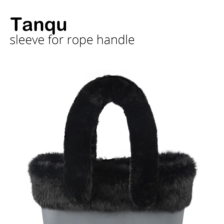 Tanqu 2018 Long Short Soft Warm Faux Fur Sleeve Cover For Rope Handle For O Bag O CHIC For EVA Obag Women Bag Shoulder Handlebag