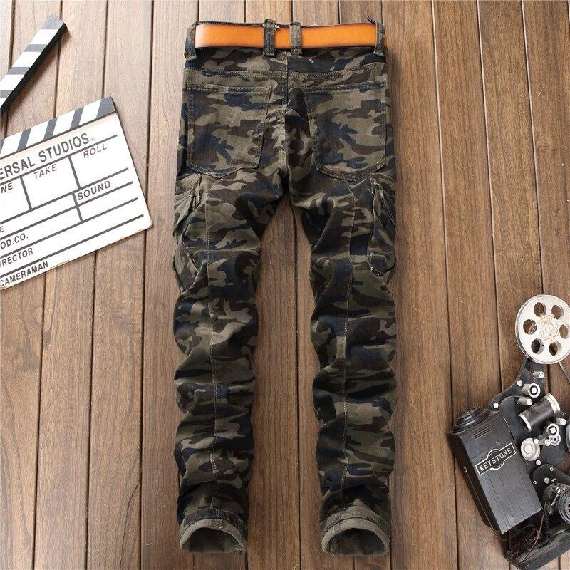 Pantaloni Causare Gli Per Jeans Denim Alta Uomini Dei Biker Camuffamento  Camouflage Qualità Di Diritti Degli 0zwqfYZav d3a2dac326db