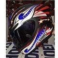 Shoei x12 casco de moto casco lleno bandera americana glory ojos grandes. Capacete
