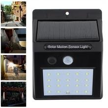 Solar Garden Light Lamp Motion Sensor IP64 Waterproof 20 LED Outdoor Decoration Street Lights Security Wireless Wall