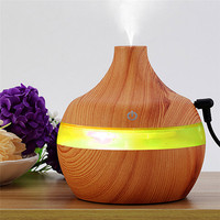 100 Brand New And High Quality 300ml Ultrasonic Humidifier Purifier LED Essential Oil Diffuser 7 Color