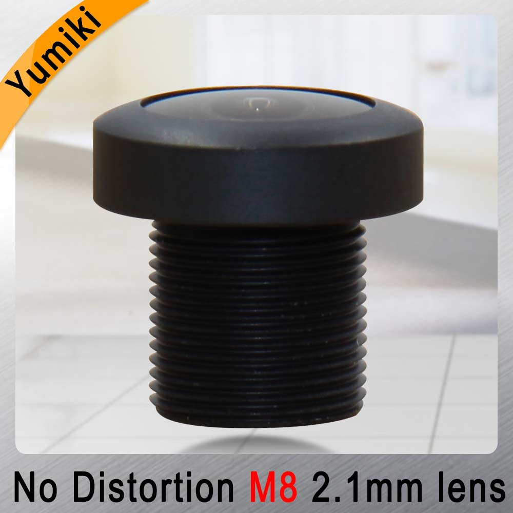 Yumiki 2.1mm M8 Lens 1/3 Inch 5MP IR F1/2.2 No Distortion Lens For Cctv Camera Wide Angle 151degree