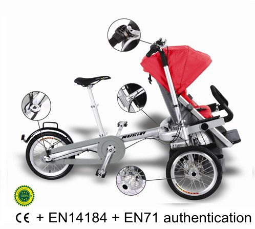 Bike Baby Stroller ComboFree Transformmultifunctional People CarrierThe Jogging