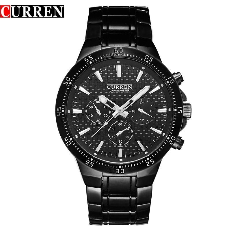 Prix pour Curren hommes montre blackcat quartz analogique homme horloge curren mode montre-bracelet de bande hommes chaude Nouveau avec des étiquettes 8063
