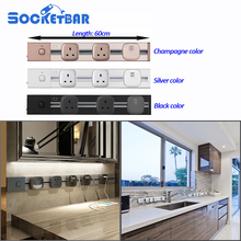 Factory Socketbar 60CM Length 4000W Tomada Usb Wall Socket 3C LED Light Living Room Meeting