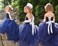 Vintage Ball Gown Flower Girl Dress Strapless Off The Shoulder Sleeveless Floor Length Lace Up Organza Flower Girl Dresses