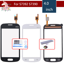 For Samsung Galaxy Trend Lite S7390 7392 GT-S7390 S7392 Touch Screen Digitizer Sensor Front Glass Lens Replacement for samsung galaxy trend lite s7390 s7392 lcd display panel monitor screen repair replacement part free tracking