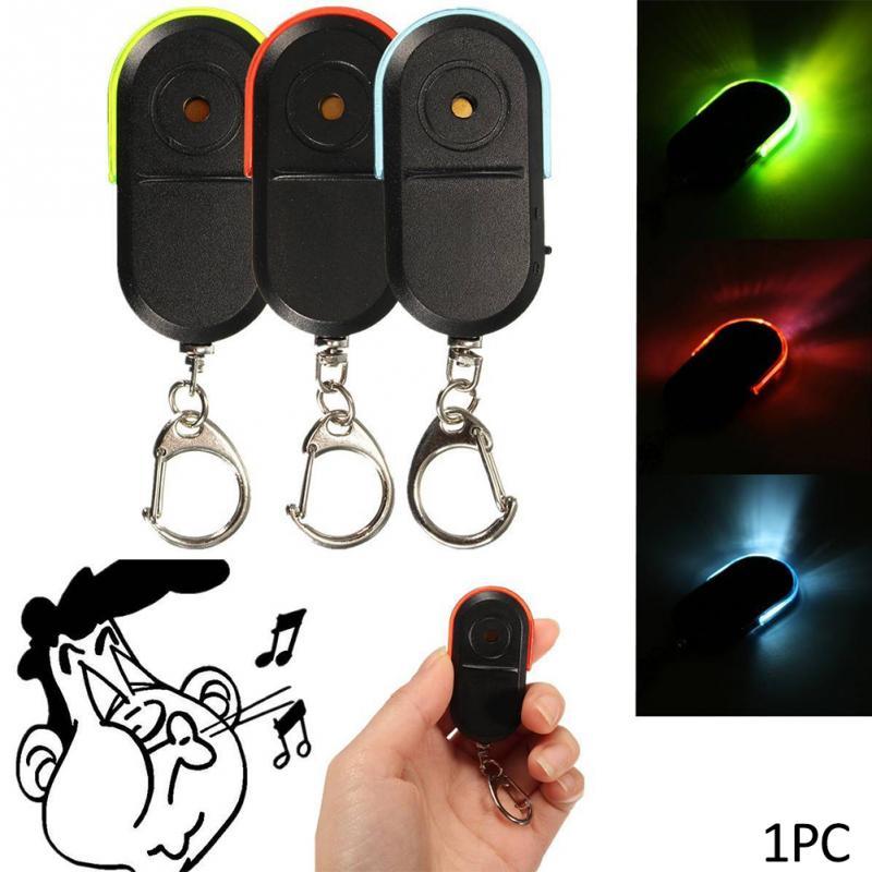 Мини локатор для ключей от потери, беспроводной локатор для ключей, брелок со свистком, светодиодный светильник|Фитнес-трекеры|   | АлиЭкспресс
