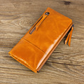 Hot Sale High Quality Women Genuine Leather Wallet Bag With Zip Coin Pouch Fashion Ladies Purse Zipper Long Portefeuille Femme