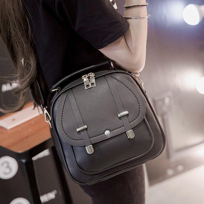 Cheap promotion ladies PU Leather small backpack For Teenager women mini Backpack Travel Bag Mochila Feminina