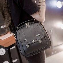Дешевые акции из искусственной кожи небольшой рюкзак для подростка женщины мини-рюкзак дорожная сумка Mochila Feminina досуг черный