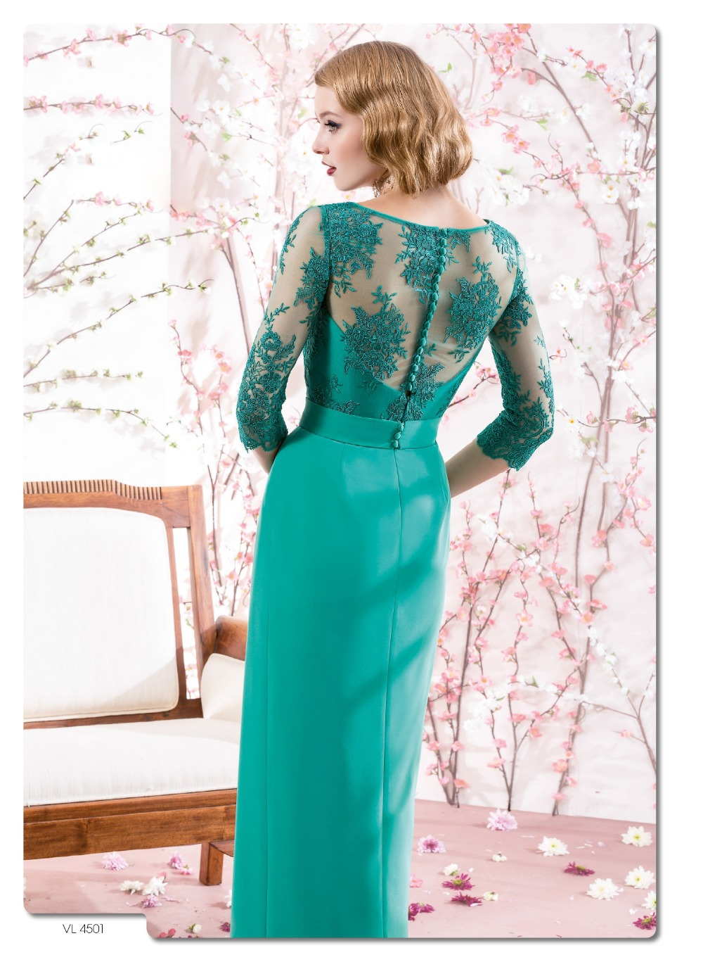 Green Chiffon Lace New Charming Mother Of The Bride dress pant suits ...