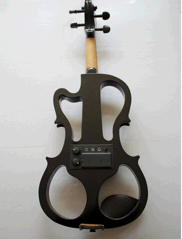 Wooden Beginners Electric Violin/ Fiddle For Sale, Black/ White Violine Send With Rosin, Case And Headphone free shipping high quality 4 4 violin send violin hard case handmade white black electric violin with power lines