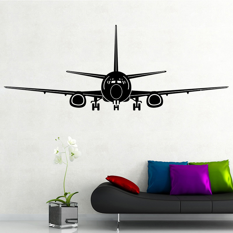 COCOPLAY Airplane Wall Stickers Home Decor Aircraft Art Wall Decals Decoration Kids Room Bedroom Sticker Removable Wallpaper image