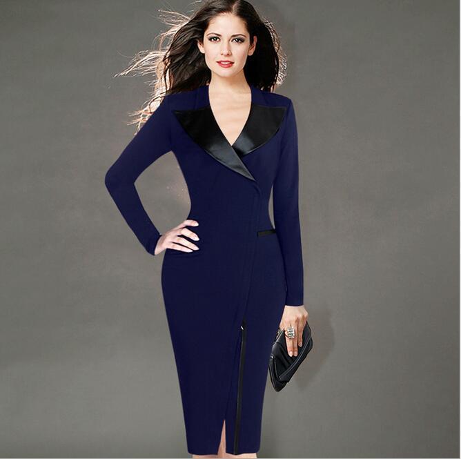 Free shipping Womens Elegant font b Tartan b font Square Neck Tunic Wear To Work Business