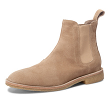 High quality Brown Suede suede Chelsea boots, Kanye West genuine leather, avant-garde life, American gdbv style