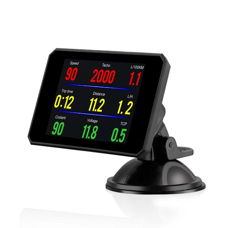 GEYIREN P16 5.8 TFT OBD Hud affichage tête haute numérique voiture vitesse projecteur ordinateur de bord OBD2 compteur de vitesse pare-brise Projetor