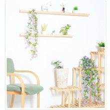 Xuanxiaotong 90cm Hydrangea Flowers Wall Hanging Artificial Vine for Home Decor Snowball Wedding Arch Decoration Accessories