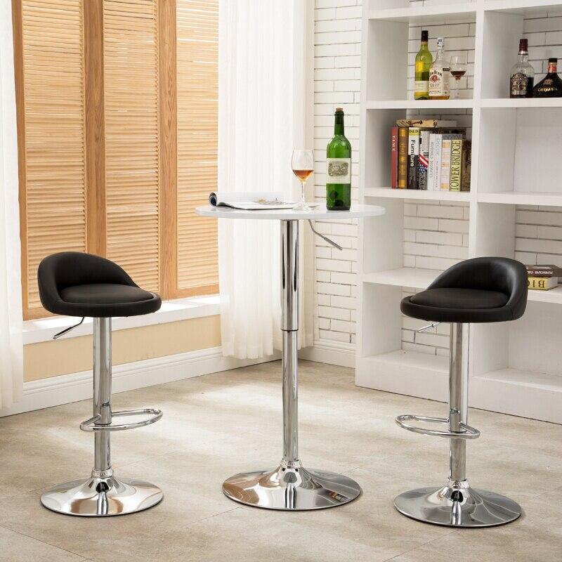 Chaise de bar de mode chaise de bureau avant tabouret chaise de bar, tabouret peut soulever et faire pivoter la chaise pour la table à manger