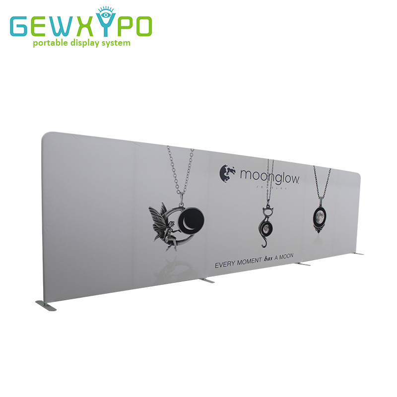 27ft * 8ft Trade Show Дисплей прямой эластичной ткани фон с баннер печать, высокое качество Наволочка Стиль Графика стены