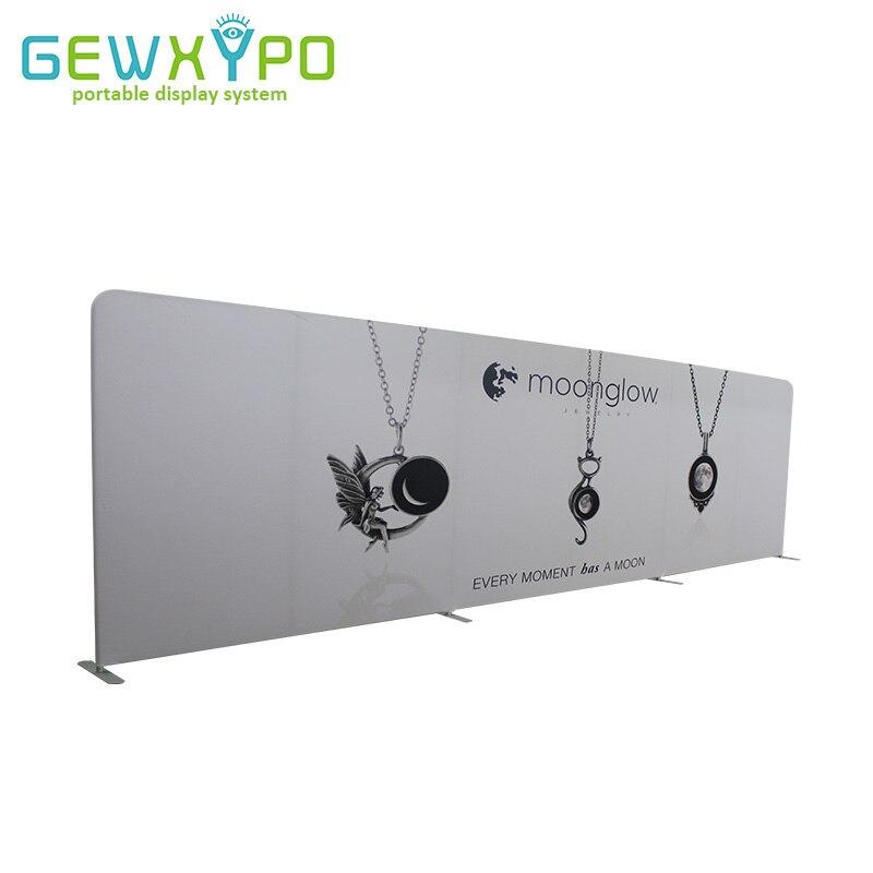 27ft (W) * 8ft Trade Show Display Straight Tension Fabric Backdrop S Transparent Printing, Přenosný Polštář Pouzdro Style Wall