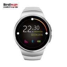 Monitor WatchesHeart KW18 Android Reloj Inteligente Digital de Dispositivos Portátiles de vigilancia Móvil Reloj Relogio Del Teléfono Inteligente SIM y TF