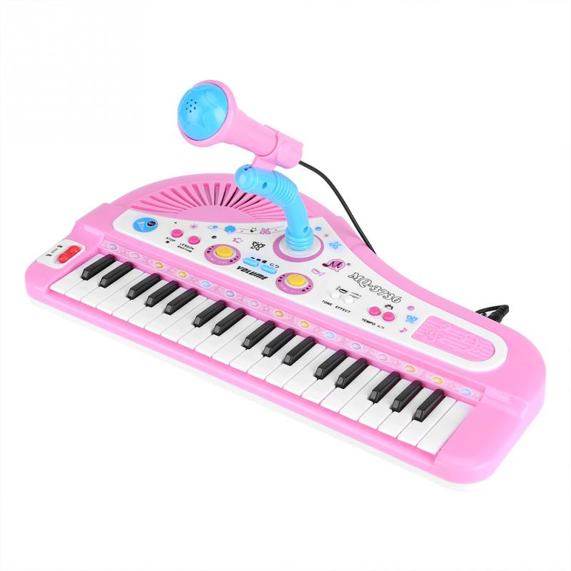 Kid Electronic Keyboard Piano With Microphone 37 Keys Educational Instrument Toy Baby Gift School Music Teaching Tools