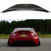 for Subaru BRZ car tail trunk type FRP fiberglass material paintless spoiler for Toyota GT86 2012 2013 2014 2015