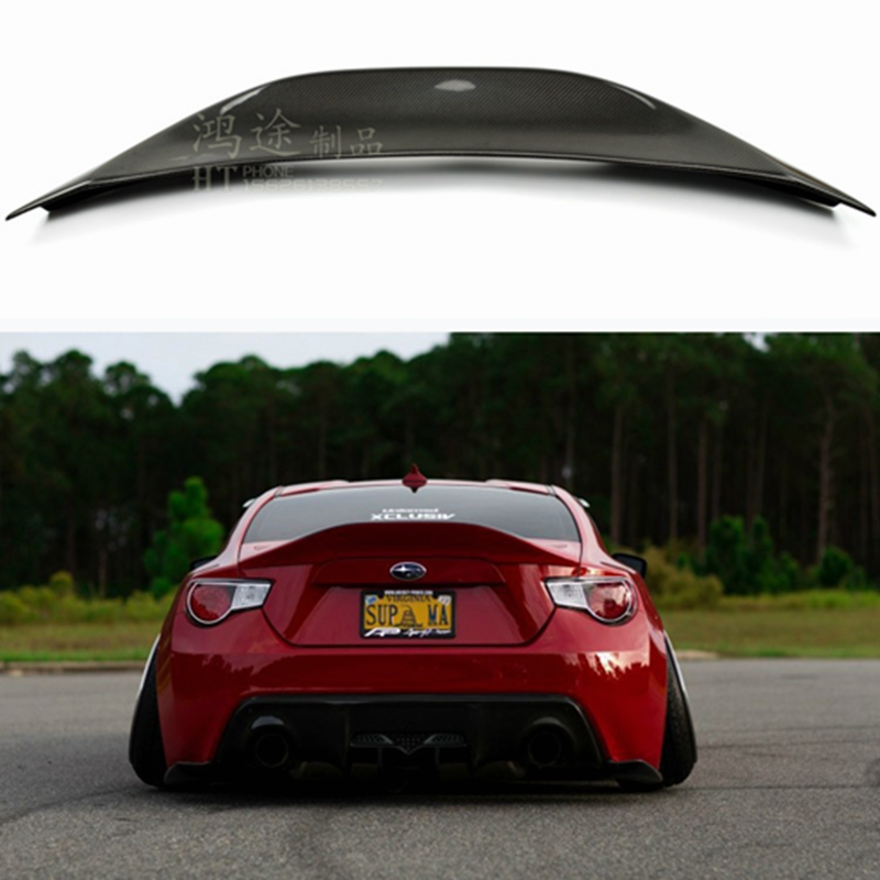 for Subaru BRZ car tail trunk type FRP fiberglass material paintless spoiler for <font><b>Toyota</b></font> <font><b>GT86</b></font> 2012 2013 2014 2015 image