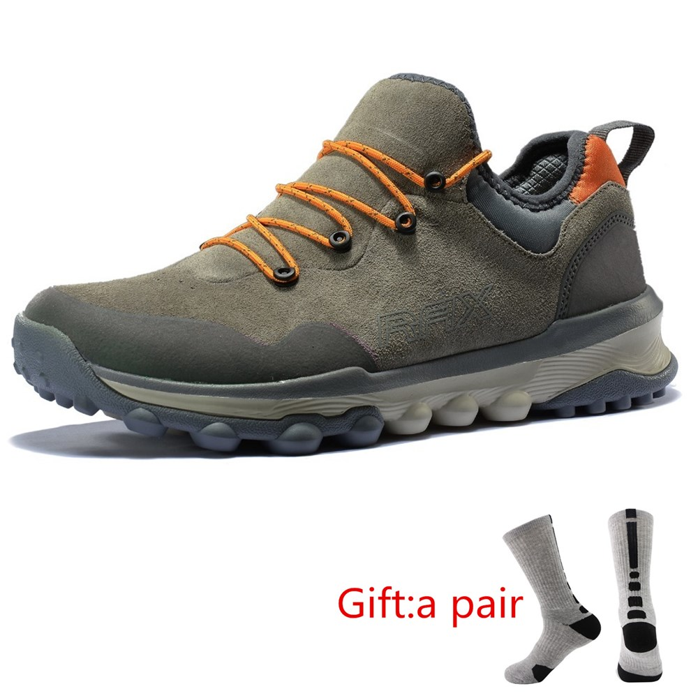 RAX Men Hiking Shoes Women Outdoor Sports Sneakers Trainers Trekking Woman Sneakers Sapatos Masculinos Lightweight With gift rax men s waterproof hiking shoes outdoor multi terrian mountain climbing backpacking trekking sneakers lightweight with gift