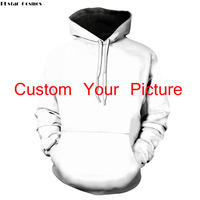 PLstar Cosmos Print 3D Hoodies DIY Design Men Women Clothing Customized Sweatshirt Custom Your Picture Name