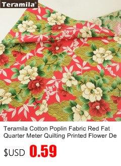1 Meter Blue Daisy Printed Cotton Fabric Poplin Fashion Clothing