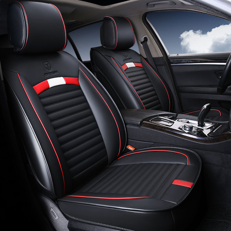 Leather car seat cover seat cushion protector for dodge ...
