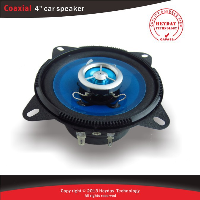 ФОТО 4'' 2-way coaxial car speaker with sky blue drum paper