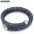 SHDEDE Jewelry Crystal from Swarovski Charm Crystal Bracelets Bangles Brand For Women Female Birthday Gift Weddings Party 24371