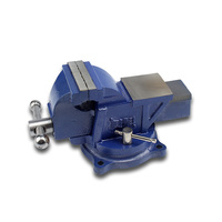 Sotrlo 3 Bench Vise Carst Iron Swival Table Vises for Multi Purpose Heavy Duty with Square Working Area Clamp Tabletop Vise
