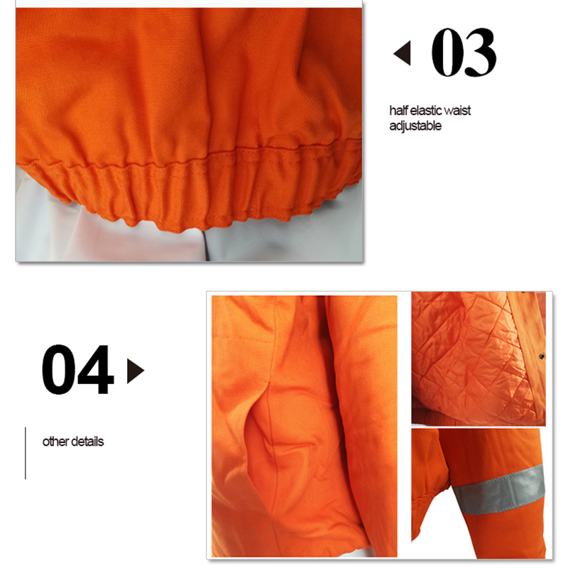 Security & Protection Safety Clothing Urban Supply Hi Vis Fire Retardant Orange Welding Coat Quilted Safety Mens Winter Jacket