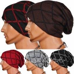 unisex women men knit winter warm ski crochet slouch hat cap oversized beanie.jpg 250x250