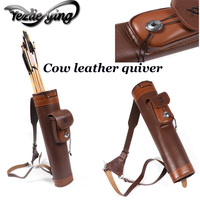 52cm Shoulderback Bow Quiver Holder Cow Leather Quiver Archery Shooting Hunting Accessories