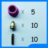 11 11 Big Promotions SG55 AG60 Air Plasma Cutter Cutting Torch Consumable KIT Plasma Nozzles TIPS