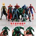Super-heróis Homem De Ferro Capitão América Wolverine Thor Spiderman Batman Hulk Loki Ação PVC Figuras Brinquedos 8 pçs/set