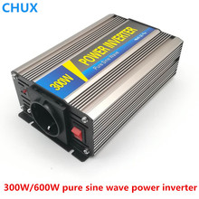 Smart Pure Sine Wave Inverter 300W CLP300A DC 12V 24V 48V to AC 110V 220V Smart Series Solar Power 300W Surge Power 600W smart 600w 24v car modified sine wave inverter solar system dc 24v to ac 220v inverter with usb charging port universial socket