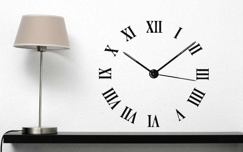 Настенные виниловые наклейки, декоративные римские цифры, круглые часы, наклейки на стену, современные наклейки для украшения дома, гостиной, наклейки на стену ZB263|vinyl stickers|sticker decorationwall decals | АлиЭкспресс
