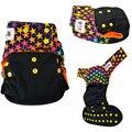 JinoBaby Lucky Color Bolsillo Pañales Reutilizables Pañales de Tela para Bebés Recién Nacidos NB a 15kgs (con 1 de inserción)