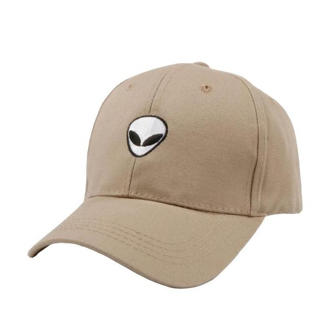 2017 Hot Sales Aliens Beige Black Cap Space UFO Snapback Baseball Caps Hat For Teenage Adult