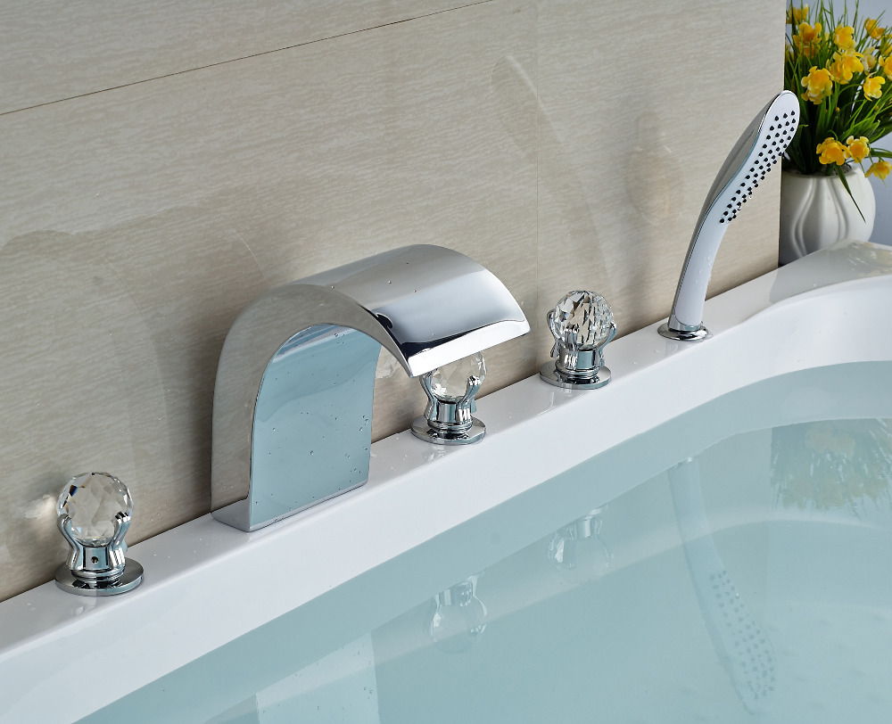 Wholesale and Retail Bathroom Shower Mixer Taps Chrome Finish Deck ...