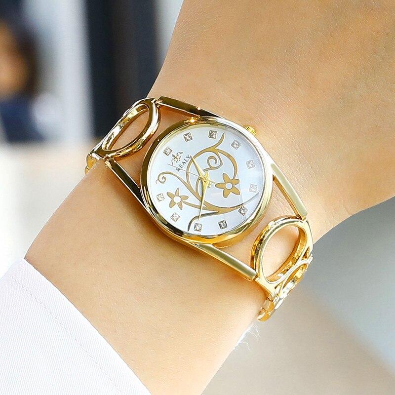 Flowers Creative Women Watches Jewelry Luxury Casual Quartz Watch female Ladies Rose Gold Wristwatches Relogio feminino