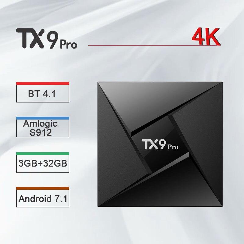Tanix TX9 Pro TV Box Android 7.1 décodeur Amlogic S912 3 go de RAM 32 go ROM 2.4/5.8GHz WiFi 4K Bluetooth 4.1 PK H96 pro X96 mini