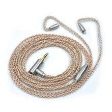 Wooeasy 8 core позолоченный кабель 3.5 мм Золотой кабель с разъемом MMCX для LZ A3 A4 dqsm VT наушники FSX-007